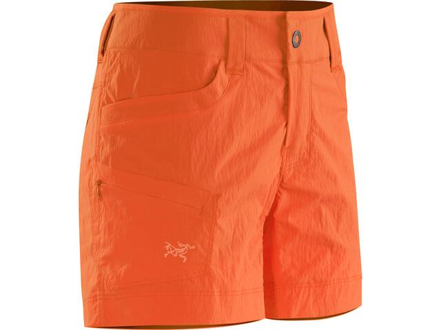 Arc'teryx Parapet korte broek Dames oranje
